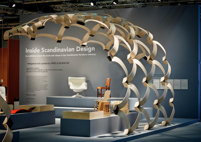 Exhibition Stand Design Furniture : Inside scandinavian design exhibition fÄrg blanche